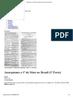 Anarquismo e 1º de Maio No Brasil (1ª Parte) _ Passa Palavra