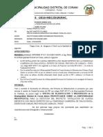 INFORME N°126. CAMBIO DE UNIDAD EJECUTORA