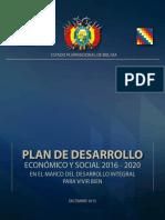 Plan de Desarrollo Economico Social2016