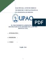 EL  PROCEDIMIENTO ADMINSITRATIVO DISCIPLINARIO EN EL REGIMEN DE LA LEY DEL SERVICIO CIVIL.docx