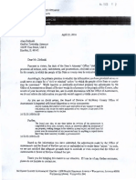 Al Zielinski Grafton Assessor - Letter from SA that he destroyed.