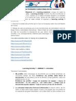 Actividades de La Nivel Uno de Ingles - Descripcion.
