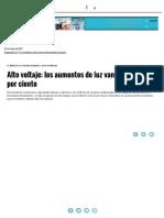 Alto Voltaje_ Los Aumentos de Luz Van d...Por Ciento _ Página12 _ La Otra Mirada