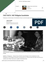FAST FACTS_ 1987 Philippine Constitution