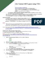 Excel Custom MDX Query Using VBA