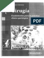 Cirugía Fundamentos Para La Práctica Clínico Quirúrgica - Mariano E. Gimenez