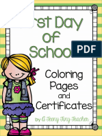 firstdayofschoolcertificatesandcoloringworksheets