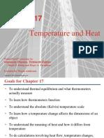 Temperature, Heat and Thermodynamics.
