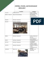fbla activities events involvement 16 17