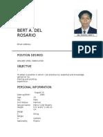 Bert a. Del Rosario