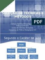 Seleção de Técnicas e Métodos