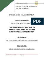 Incremento de Voltaje de Paneles Solares Mediante Circuitos Integrados