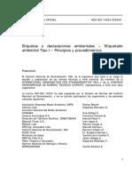NCh-ISO 14024-2000 Etiquetas y declaraciones ambientales - etiquetado ambiental tipo I - principios y procedimientos.pdf