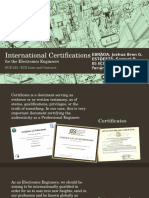 International Certifications