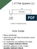 The UNIX V7 File System 1