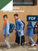 Estado Mundial de La Infancia de 2013 Niñas y Niños Con Discapacidad