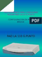 238639953 Procedimiento Para Comfigurar Modem Rad La110 g Bridge