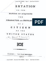 A Dissertation on Manner of Acquiring Character & Privileges of Citizen of U.S.-by David Ramsay-1789