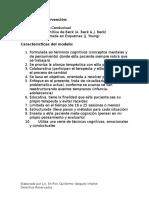 Modelo de Intervención Cognitivo-Conductual