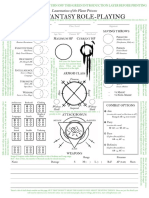LotFP Character Sheet as Conceived by Last Gasp