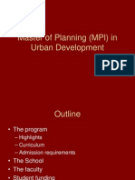 MPl in Urban Development Admissions Presentation