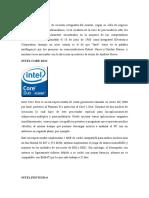 Procesadores Relevantes de Intel