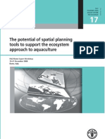 The potential of spatial planning tools to support the ecosystem approach to aquaculture