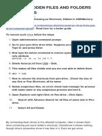 How to Unhide Hidden Files