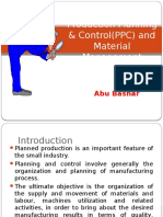 Production Planning & Control - Ppc