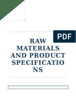 Raw Materials Aniline
