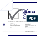 Ada Checklist Word Fillable Form