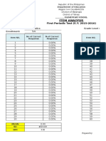 Item Analysis (Automatic)