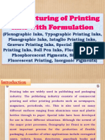 Manufacturing of Printing Inks with Formulation (Flexographic Inks, Typographic Printing Inks, Planographic Inks, Intaglio Printing Inks, Gravure Printing Inks, Special Inks, Offset Printing Inks, Ball Pen Inks, Fluorescent Inks, Phosphorescent Pigments, Silk-screen Fluorescent Printing, Inorganic Pigments)