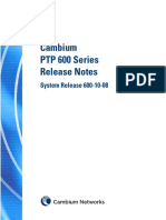 Cambium PTP600 Series 10-08 System Release Notes