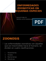 Enfermedades Zoonoticas en Pequeñas Especies