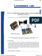 0-30 Vdc Stabilized Power Supply With Current Control 0.002-3 A
