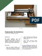 Rikl, Severin - Federwinder für Großuhren