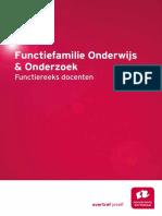 Functiefamilie Onderwijs en Onderzoek Functiereeks Docenten
