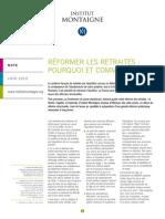 Reformer Les Retraites - l'Institut Montaigne