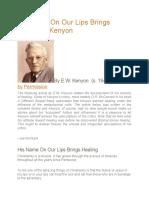His Name on Our Lips Brings Healing e.w. Kenyon