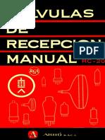 RCA 1960 RC-20 Valvulas de Recepcion Manual