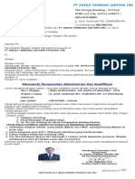 Surat Seleksi Pt. Antam Persero Palembang