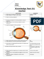 P3 Knowledge Test Answers