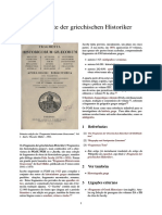 Fragmente Der Griechischen Historiker