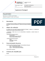 Prova de Equivalência à Frequência - Psicologia a - Documento Informativo