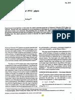 Elastic Properties of PVC Pipes
