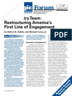 Restructuring America's First Line of Engagement