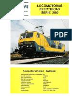 Locomotoras Serie 250