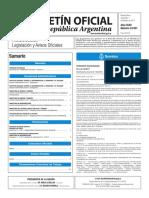 Boletín Oficial de la República Argentina, Número 33.557. 01 de febrero de 2017