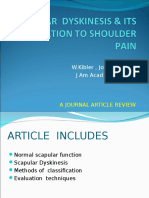 Scapular Dyskinesis Its Relation to Shoulder Pain